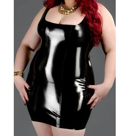 Latex Back Zip Cocktail Dress