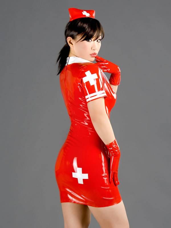 Latex Military/Nurse Dress
