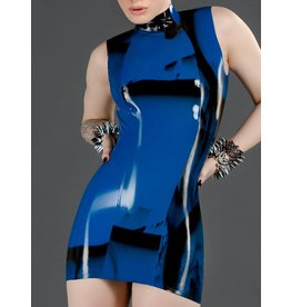 Marbled Latex Princess-Line Dress