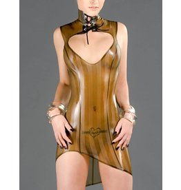Striped Latex Amazon Dress