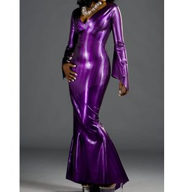 Striped Latex Style Gown