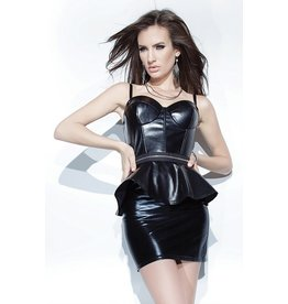 Wetlook Hi-Waist Mini Skirt