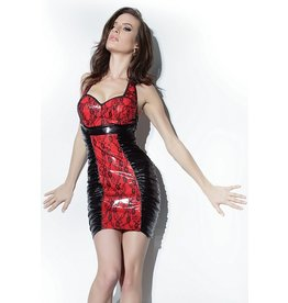 Pvc Dress W/Lace Overlay