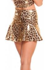 Metallic High Waisted Skirt