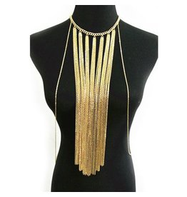 Long Curtain Fringe Body Chain