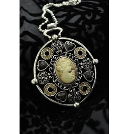 Cameo Art & Jewel Necklace