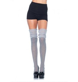 Acrylic Pointelle Over The Knee Scrunch Thigh Highs