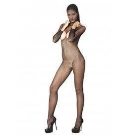 Hooded Fishnet Crotchless Bodystocking