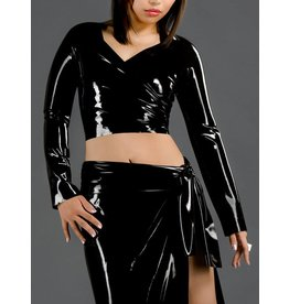 Latex Wrap Top