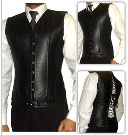 Men's Leather Vest Corset