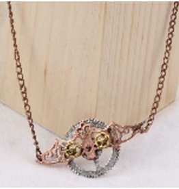 Steampunk Bat Necklace w/ Gears