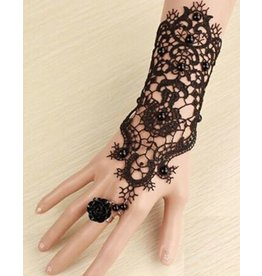 Gothic Lace Bracelet Glove w/ Ring