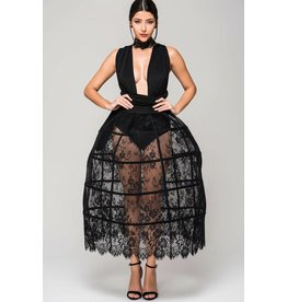 Full Lace Cage Skirt