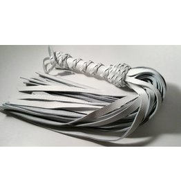 Heavy Leather Flogger with Braided Handle