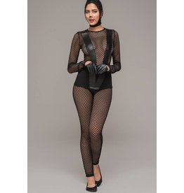 Pothole Net & Wetlook V Catsuit