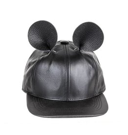 Leather Mouse Hat