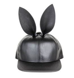 Leather Fox Ear Hat