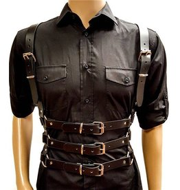 Triple Buckle Leather Shoulder Harness