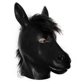 Latex Horse Hood