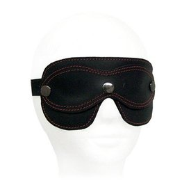 Leather Mask Blindfold Black/Black