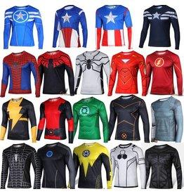 LS 3D Marvel Superhero Spandex Top