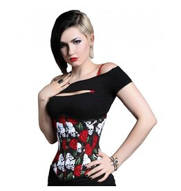 Skull and Rose Gentle Cincher
