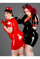 Latex Military/Nurse Dress