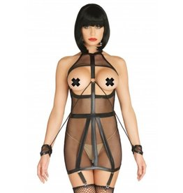 Fishnet Open Cup Bondage Garter Dress