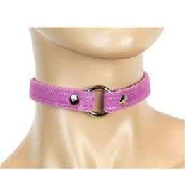 "3/4"" Floating Ring Velvet Choker"