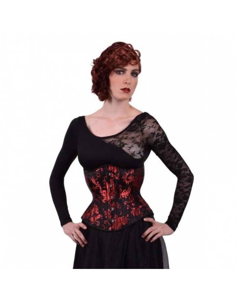 Gothic Red Hourglass Cincher