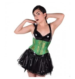 Emerald Brocade Curvy Short Cincher