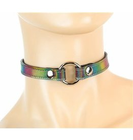 "1/2"" Ring Choker Rainbow One Size"