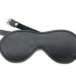 Leather Fleece Lined Blindfold With Buckle