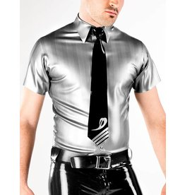 DP Striped Latex SS Snap Shirt