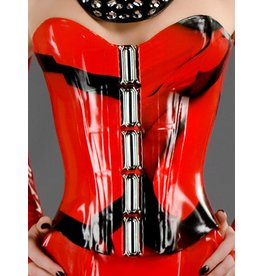 DP Marbled Latex Victorian Corset