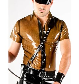 DP Latex Ss Snap Shirt