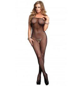 Fishnet Body Stocking O/S RED