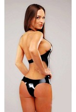 Latex Backless Bodysuit