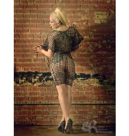 Latex Net Mini Skirt