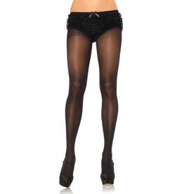 Opaque Sheer Tights W/Cotton
