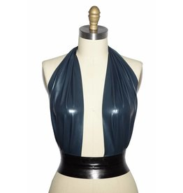 Latex Plunge Halter