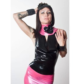 Latex Messy Cowl Neck Top