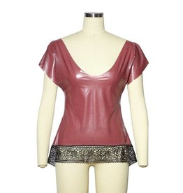 Latex Loose Sleeve Top