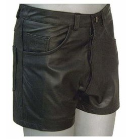 5 Pocket Leather Shorts