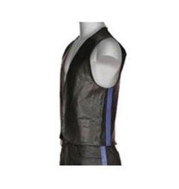 Leather Bar Vest w/ Side Stripe