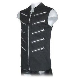 Sleeveless Shirt W/Zippers