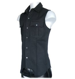 Sleeveless Snap Front Shirt