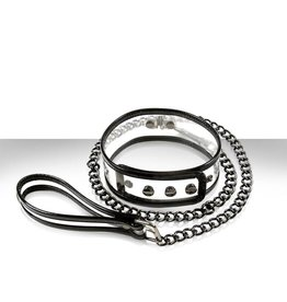Bare Bondage Collar And Leash