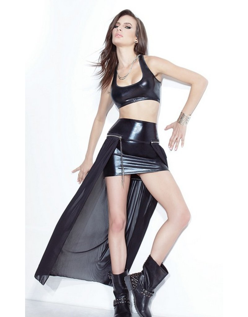 Darque Darque and Long Mesh Skirt