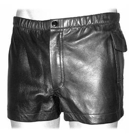 Men's Leather Hot Pants w/ Pockets